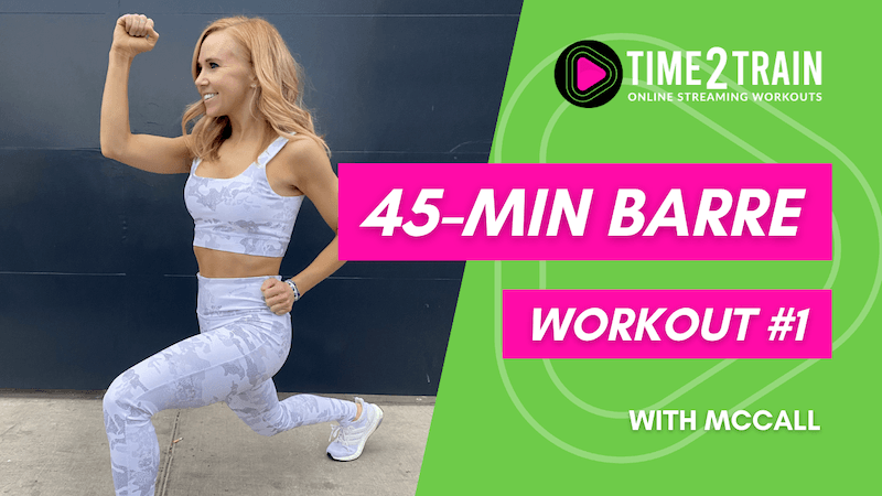 45-Minute At-Home Barre Workout   Workout #1